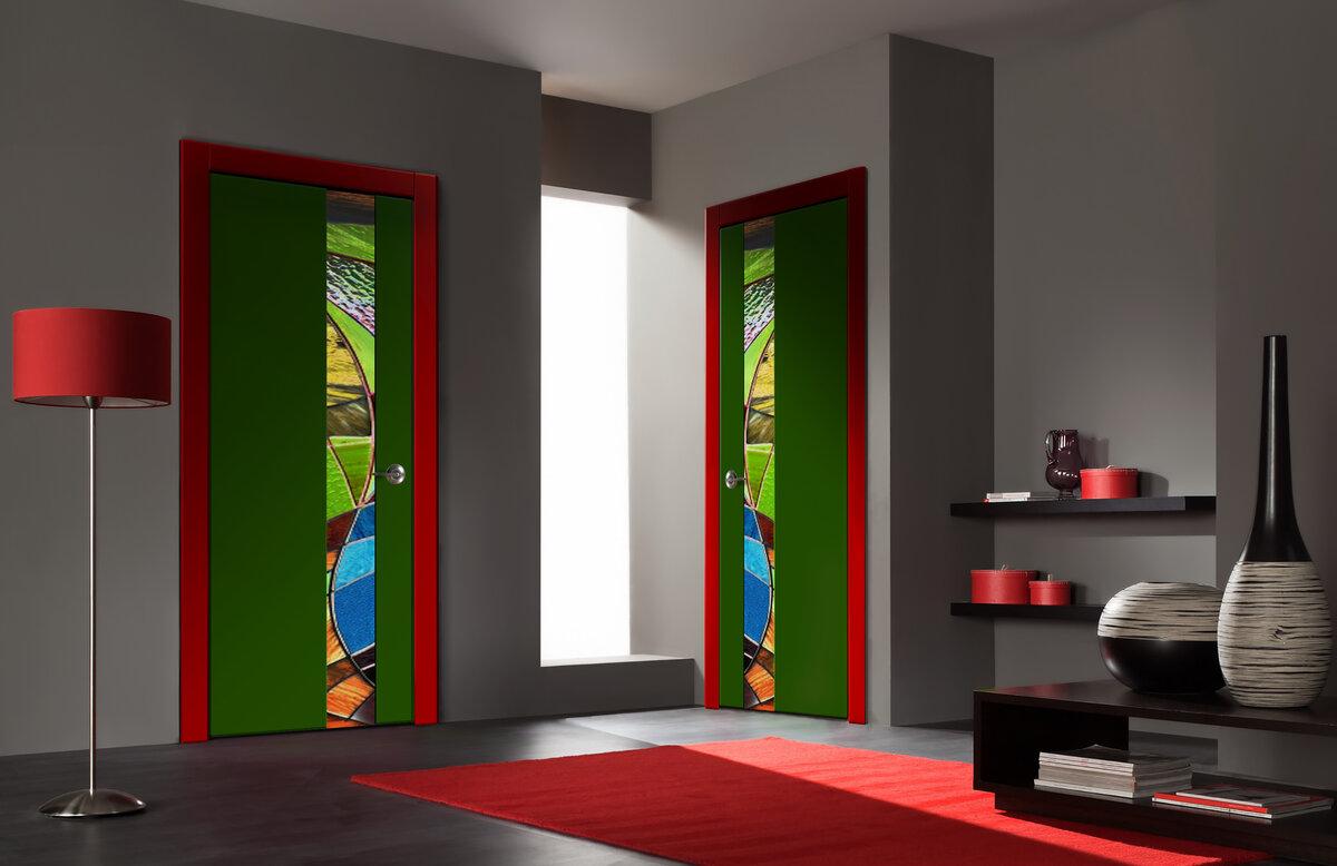 окрашивание межкомнатных дверей